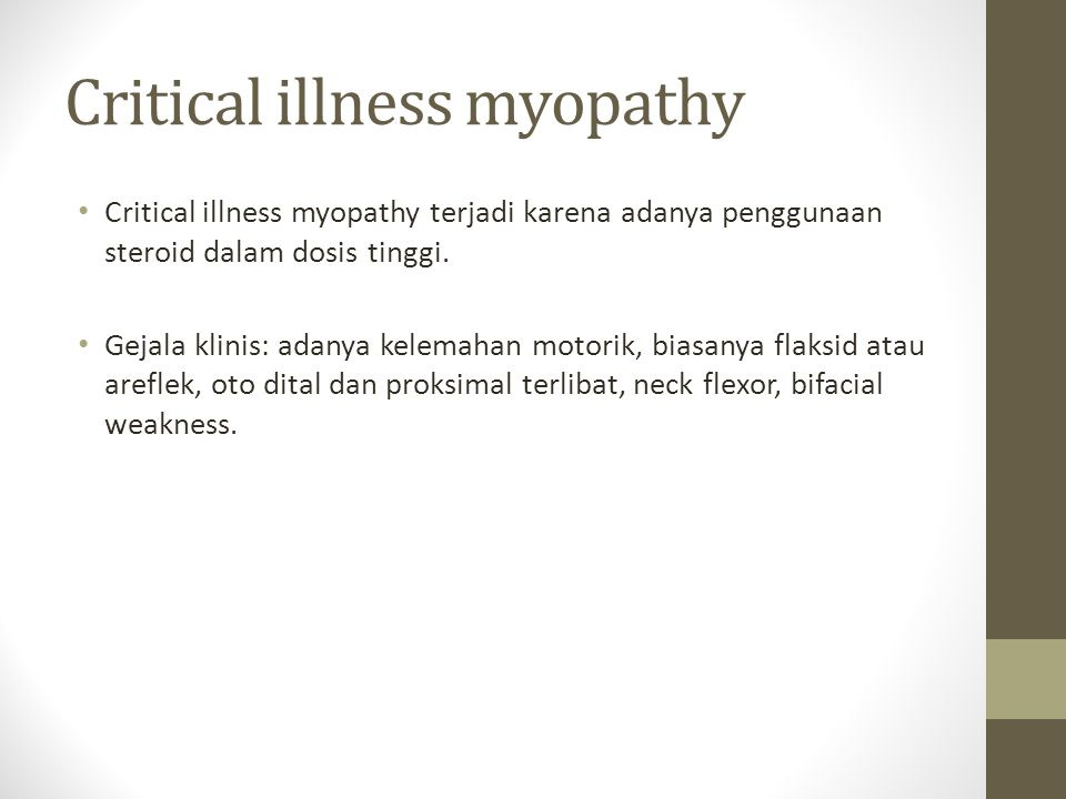 Critical illness myopathy