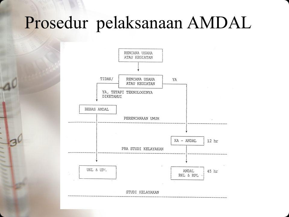 Prosedur pelaksanaan AMDAL