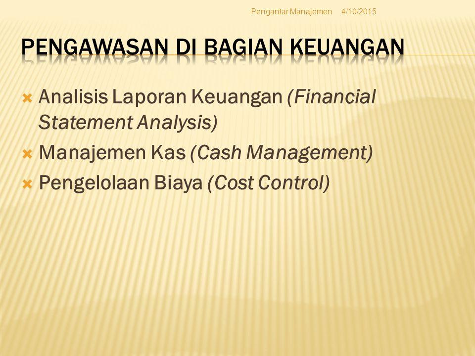 Pengawasan di Bagian Keuangan