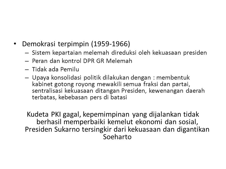 Demokrasi terpimpin (1959-1966)