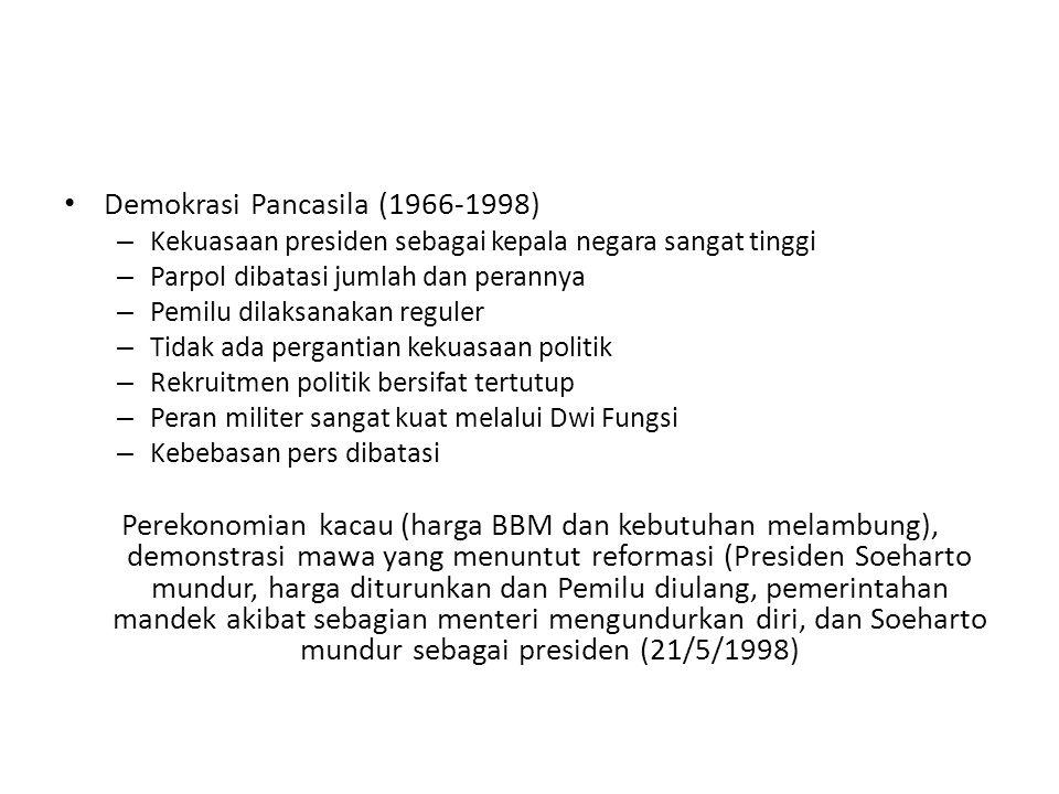 Demokrasi Pancasila (1966-1998)