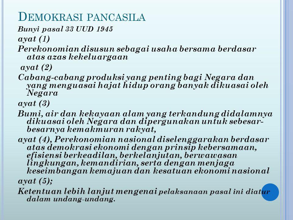 Demokrasi pancasila ayat (1)