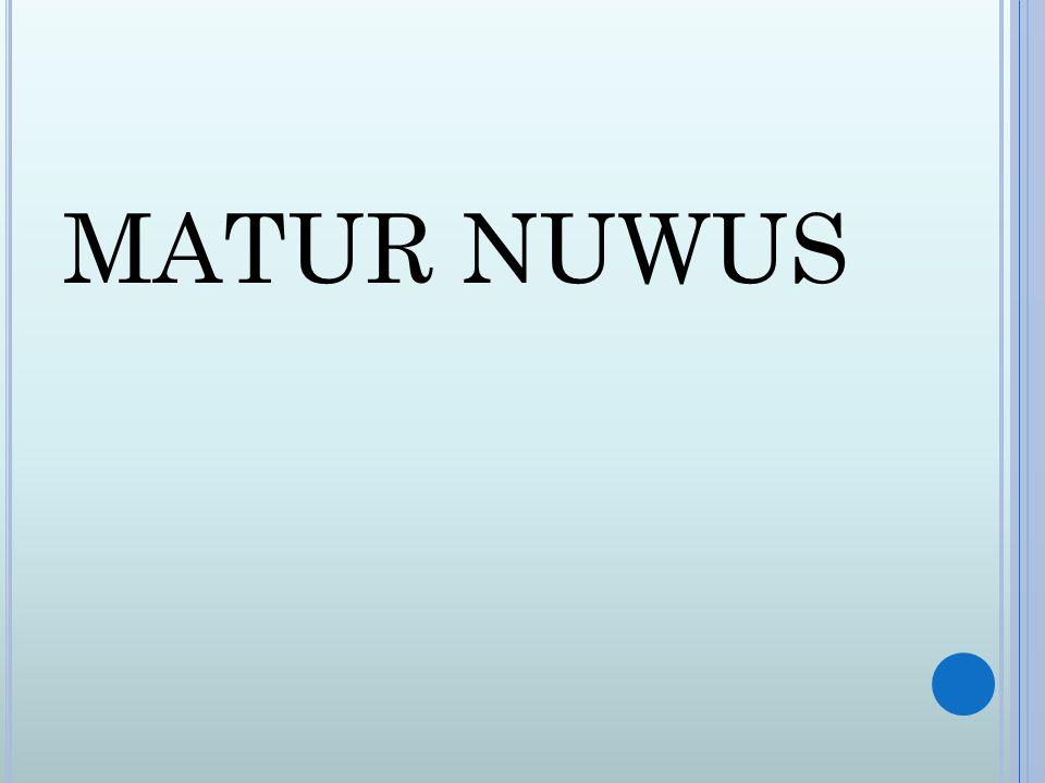 MATUR NUWUS