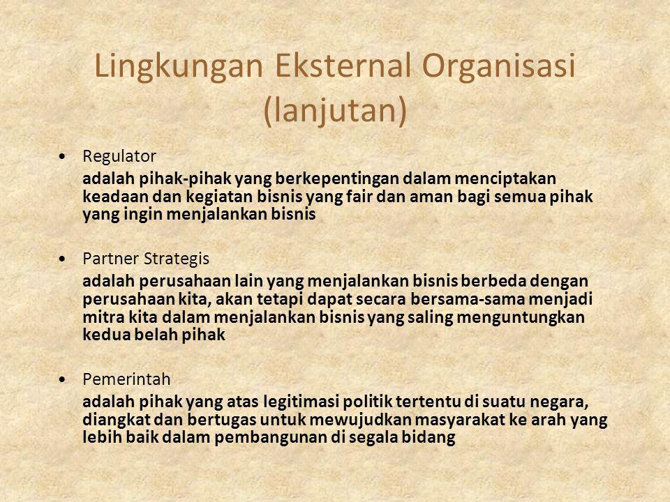 Lingkungan Eksternal Organisasi (lanjutan)