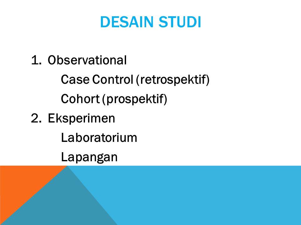 Desain Studi Observational Case Control (retrospektif)