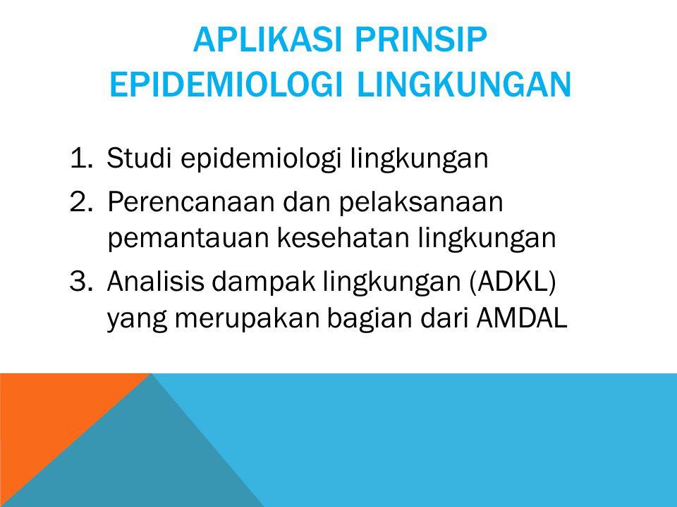 Aplikasi Prinsip Epidemiologi Lingkungan