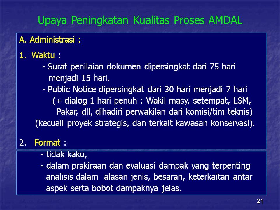 Upaya Peningkatan Kualitas Proses AMDAL