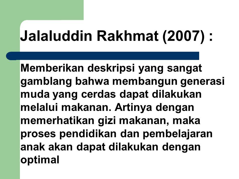 Jalaluddin Rakhmat (2007) :