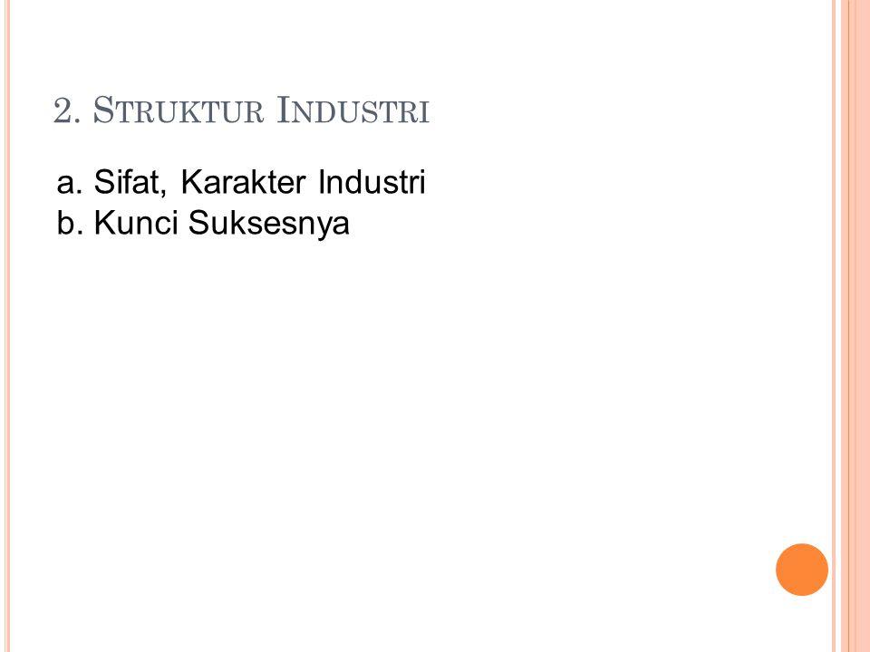 2. Struktur Industri a. Sifat, Karakter Industri b. Kunci Suksesnya
