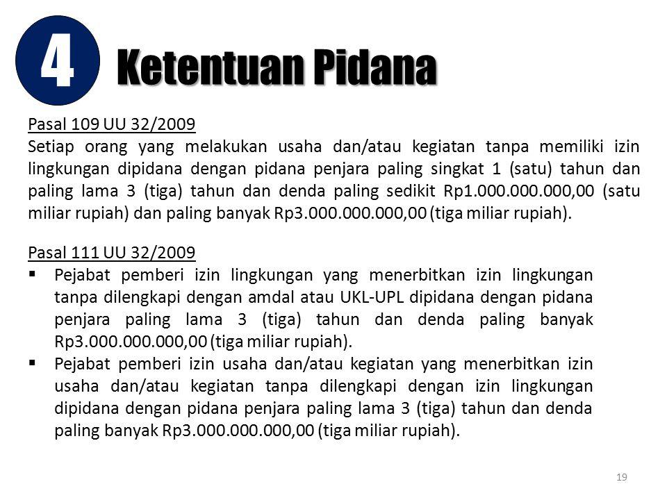4 Ketentuan Pidana Pasal 109 UU 32/2009