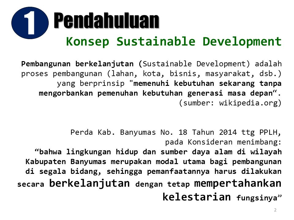 1 Pendahuluan Konsep Sustainable Development