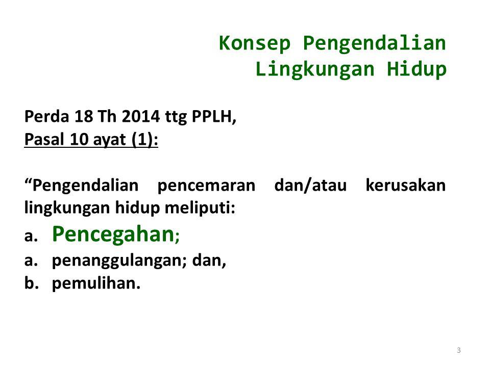 Konsep Pengendalian Lingkungan Hidup Perda 18 Th 2014 ttg PPLH,