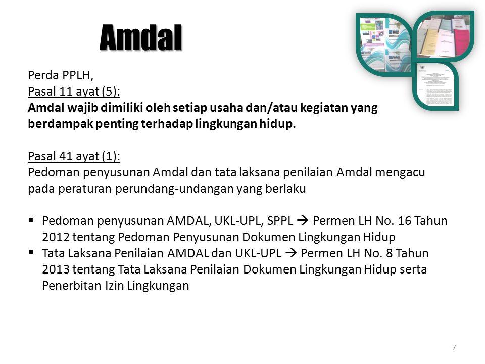 Amdal Perda PPLH, Pasal 11 ayat (5):