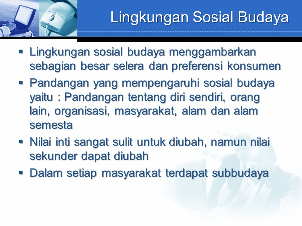 Lingkungan Sosial Budaya