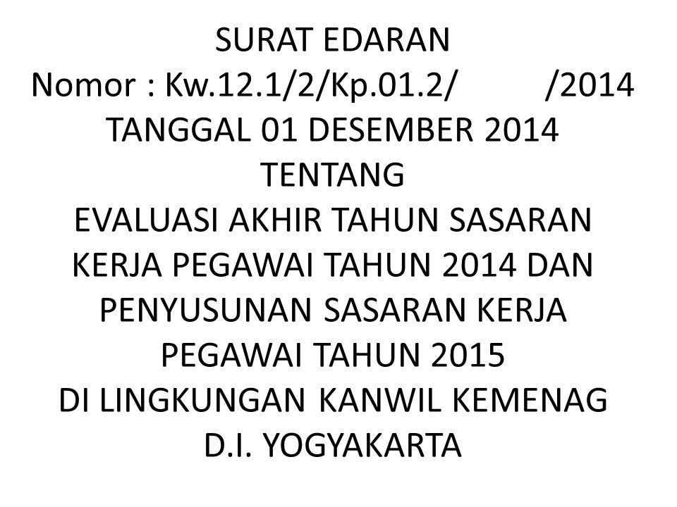 SURAT EDARAN Nomor : Kw. 12. 1/2/Kp. 01