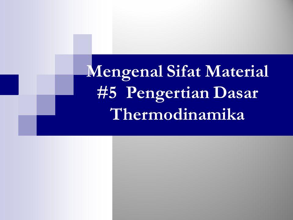 Mengenal Sifat Material #5 Pengertian Dasar Thermodinamika