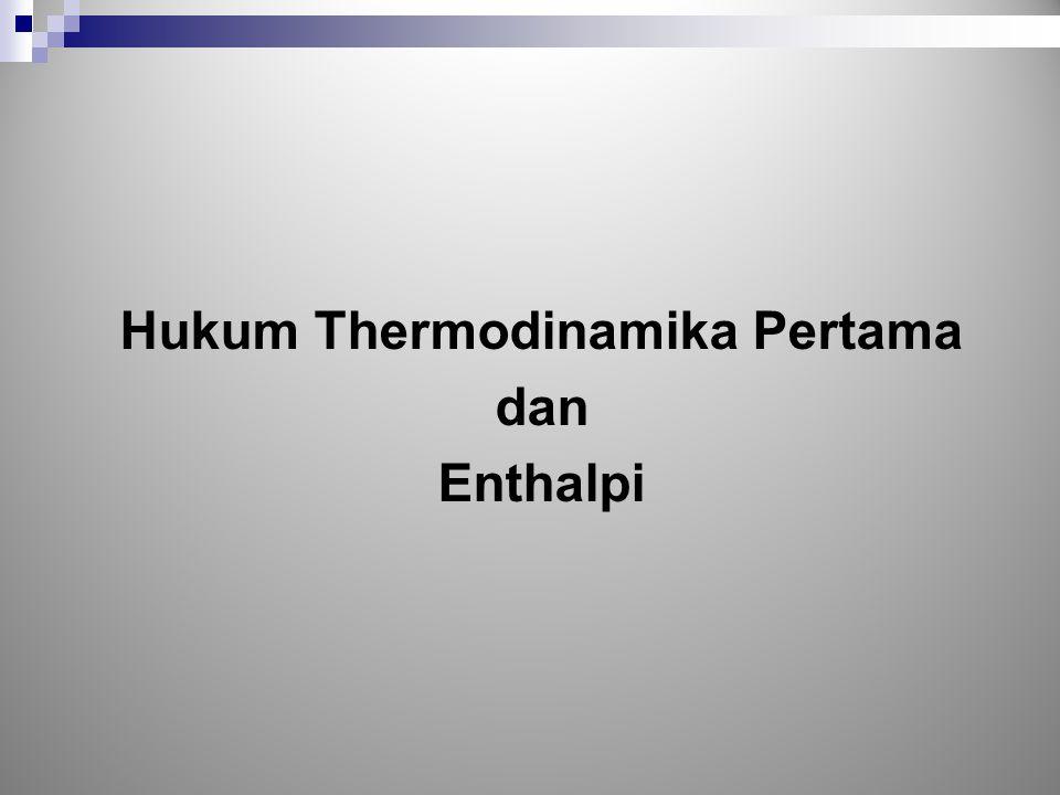 Hukum Thermodinamika Pertama
