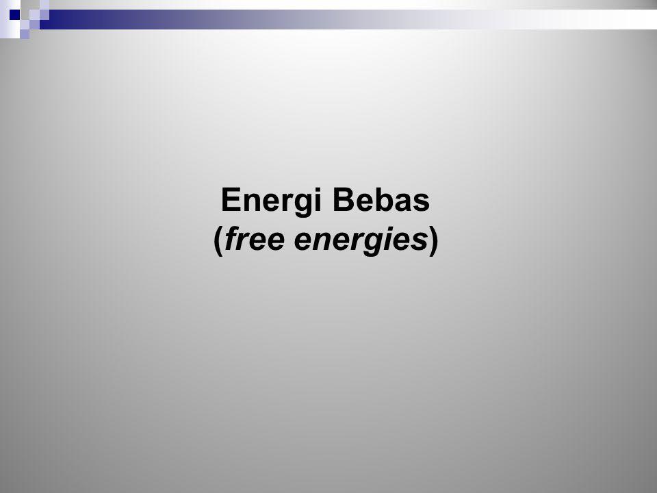 Energi Bebas (free energies)