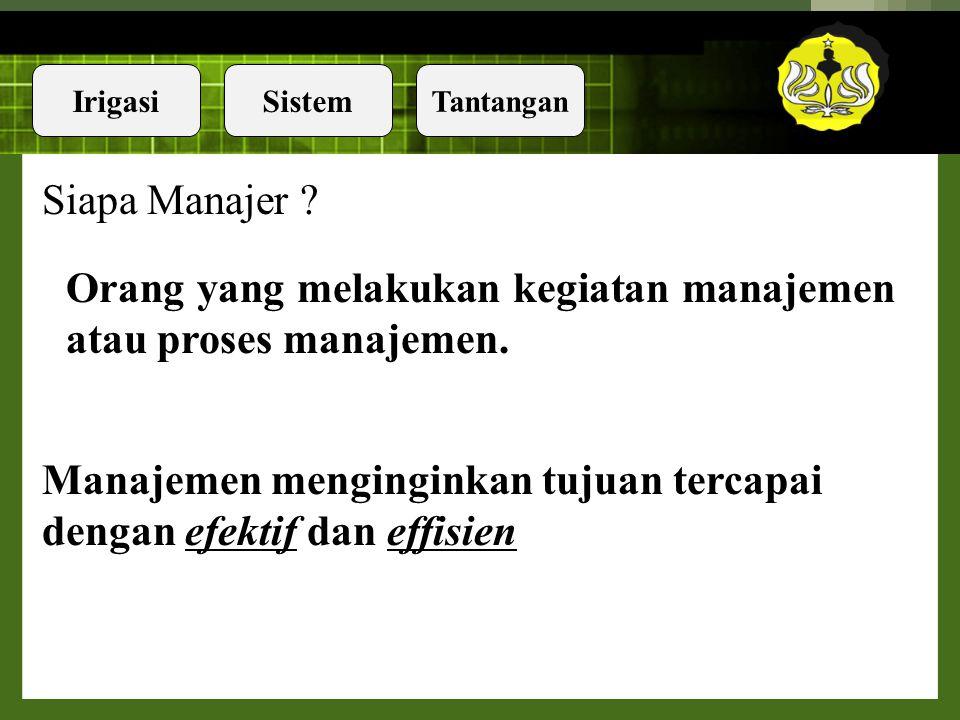 Siapa Manajer . Orang yang melakukan kegiatan manajemen atau proses manajemen.