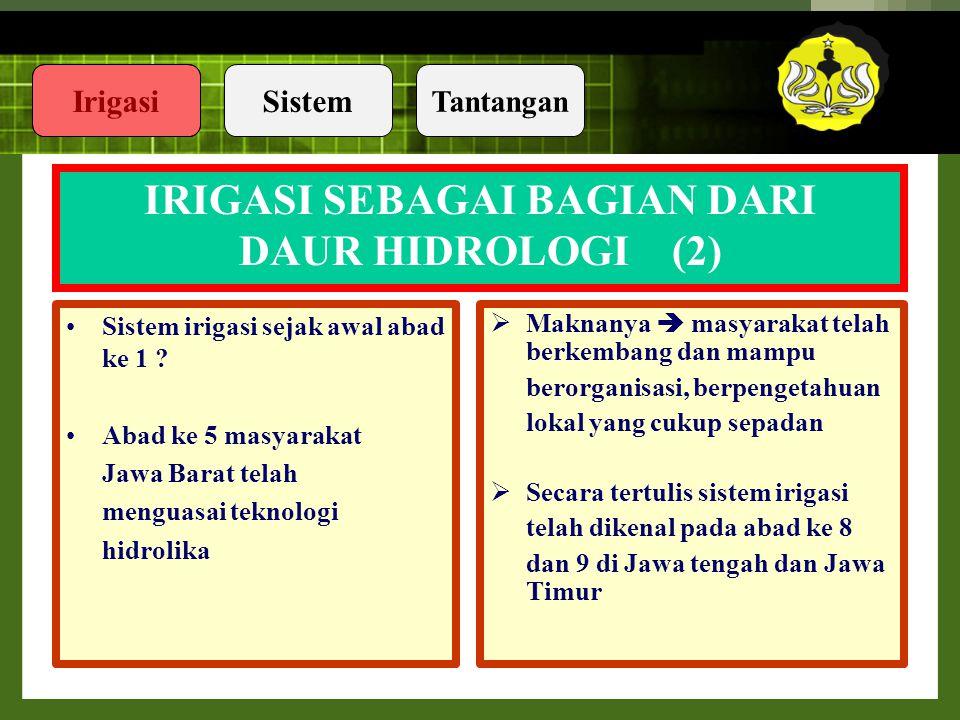 IRIGASI SEBAGAI BAGIAN DARI DAUR HIDROLOGI (2)
