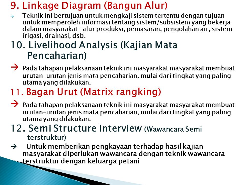 9. Linkage Diagram (Bangun Alur)