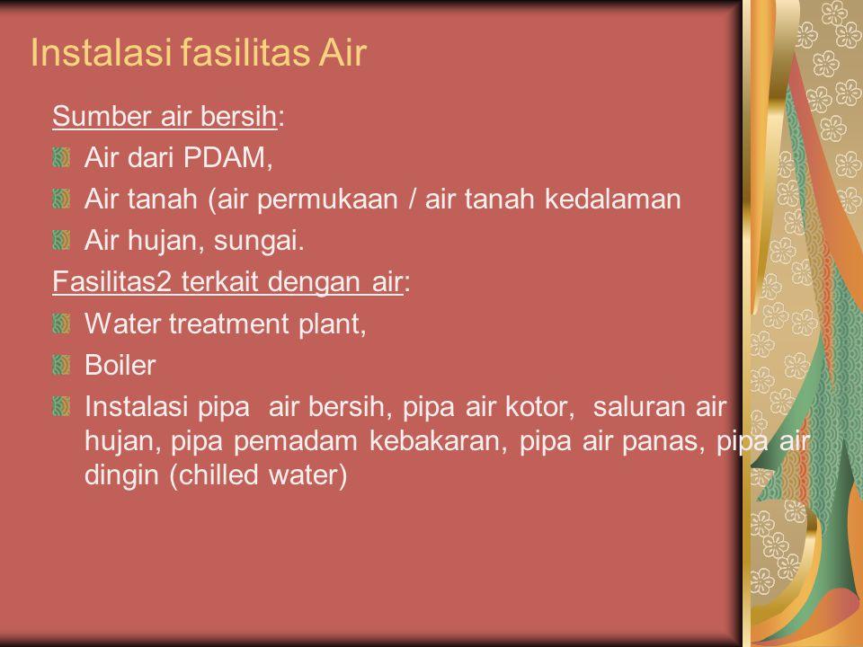 Instalasi fasilitas Air