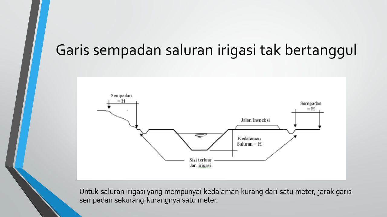 Garis sempadan saluran irigasi tak bertanggul