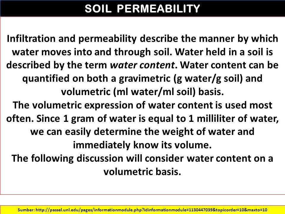 SOIL PERMEABILITY