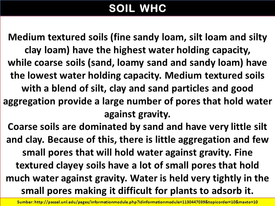 SOIL WHC