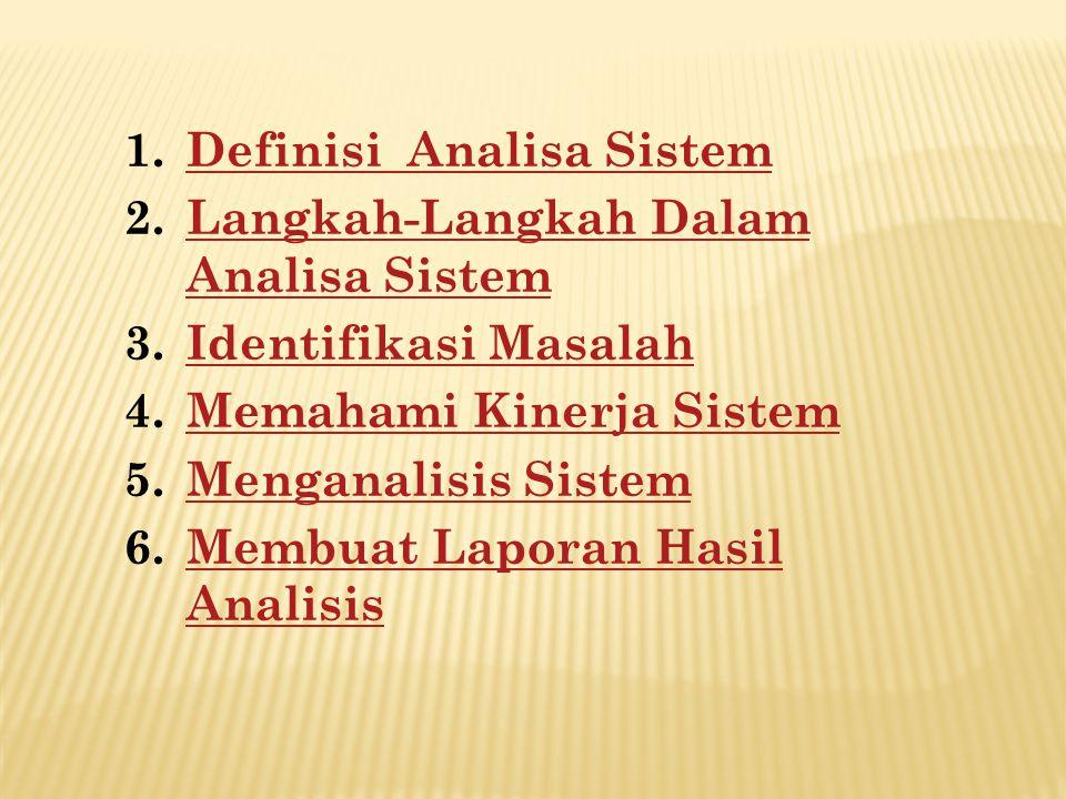 Definisi Analisa Sistem