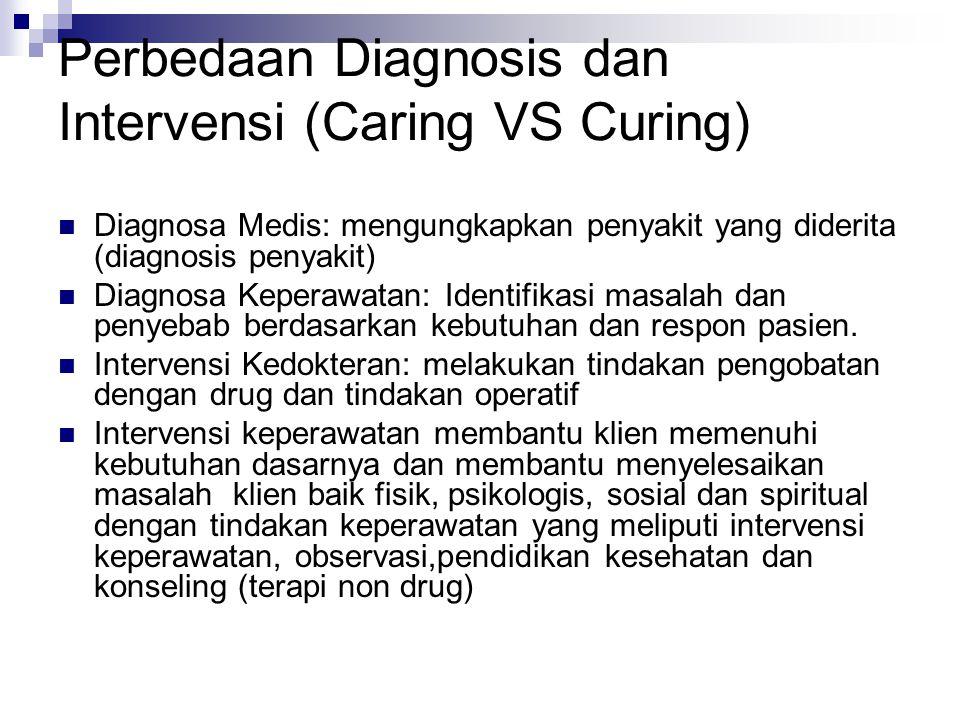 Perbedaan Diagnosis dan Intervensi (Caring VS Curing)