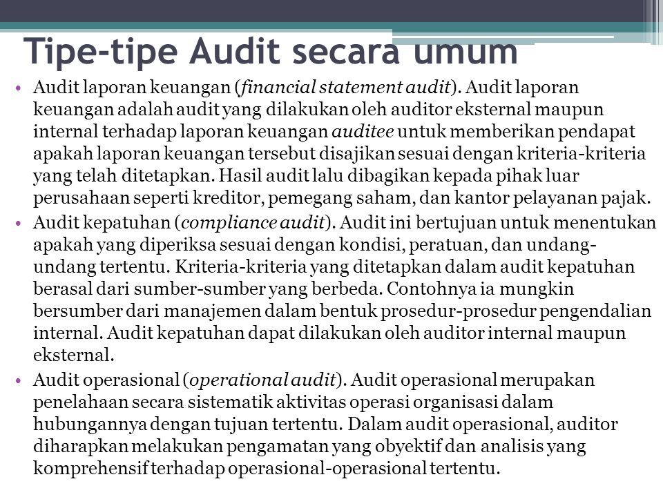 Tipe-tipe Audit secara umum