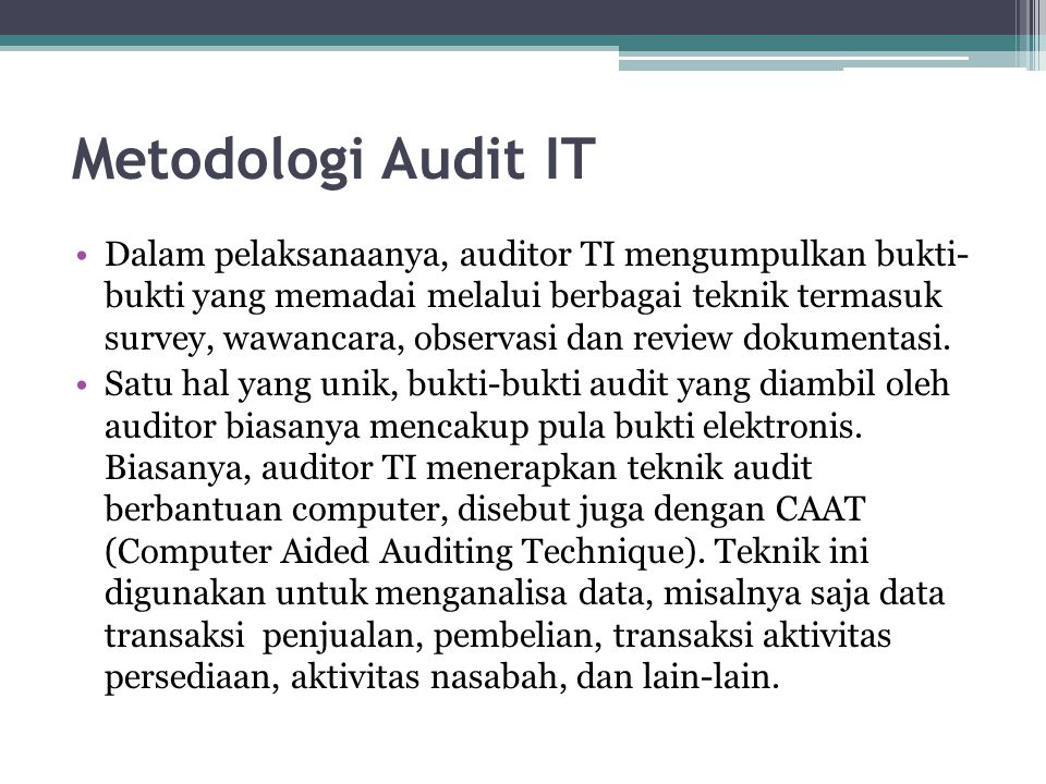 Metodologi Audit IT