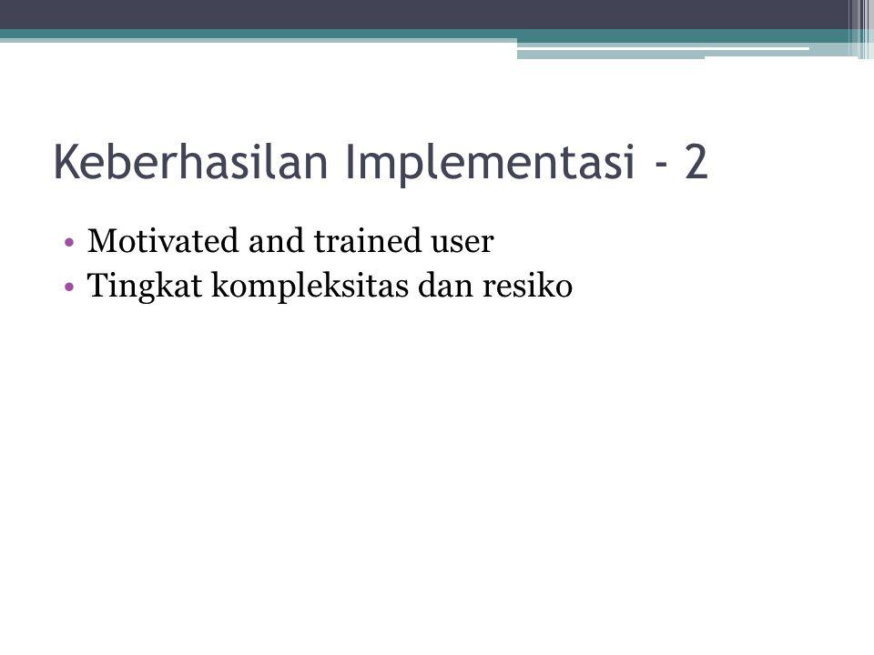 Keberhasilan Implementasi - 2