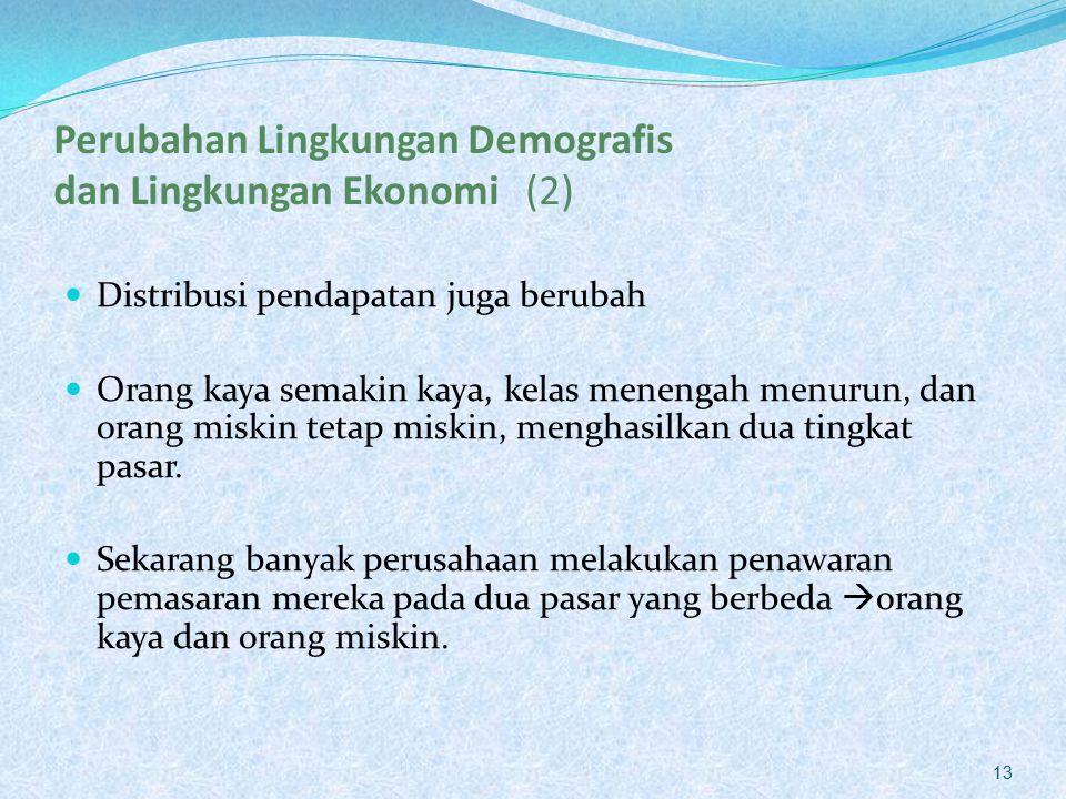 Perubahan Lingkungan Demografis dan Lingkungan Ekonomi (2)