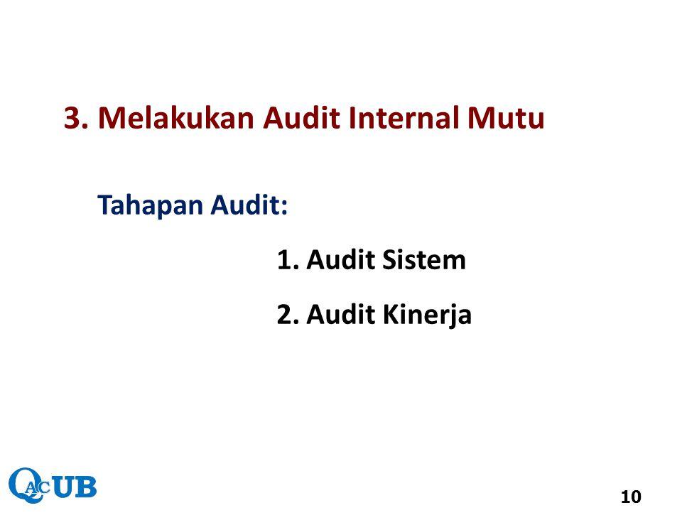3. Melakukan Audit Internal Mutu