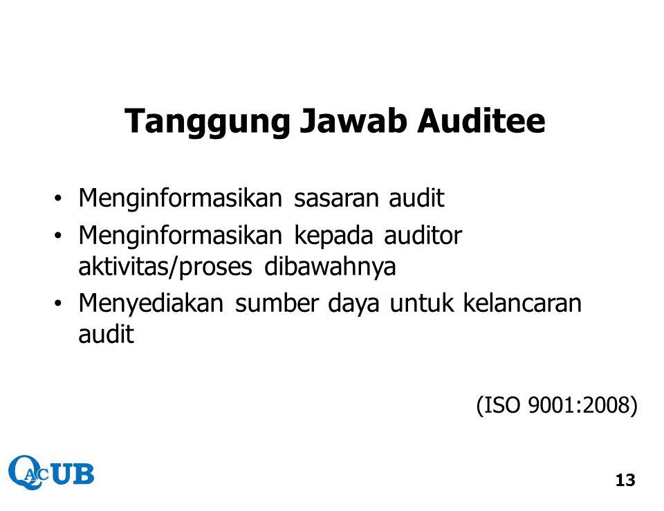 Tanggung Jawab Auditee