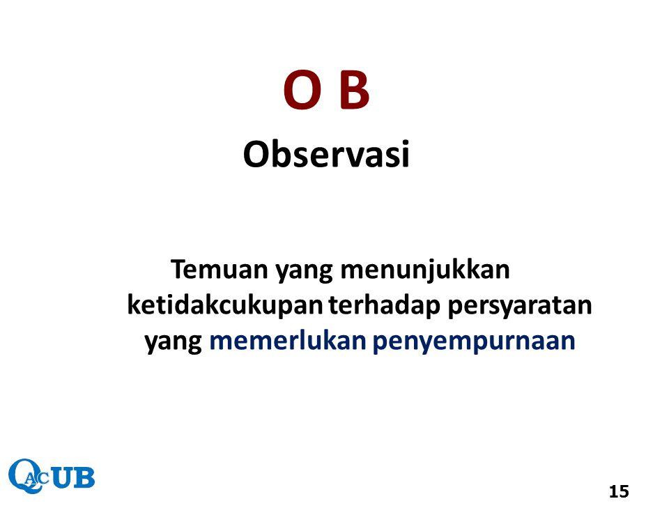 O B Observasi.