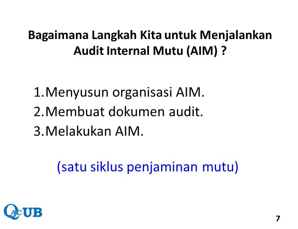 Bagaimana Langkah Kita untuk Menjalankan Audit Internal Mutu (AIM)