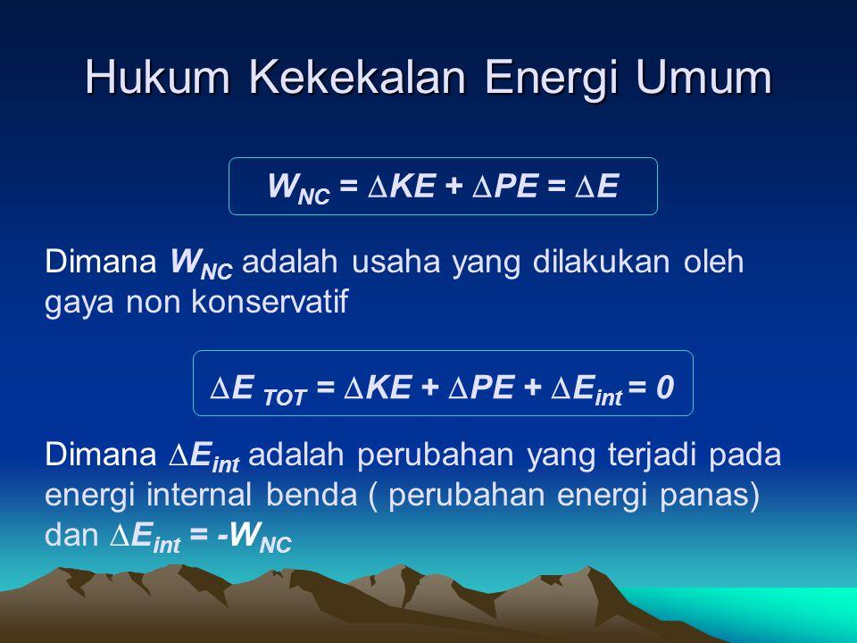 Hukum Kekekalan Energi Umum