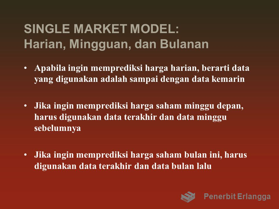 SINGLE MARKET MODEL: Harian, Mingguan, dan Bulanan