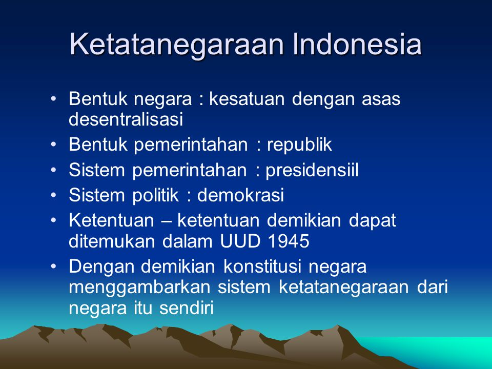 Ketatanegaraan Indonesia