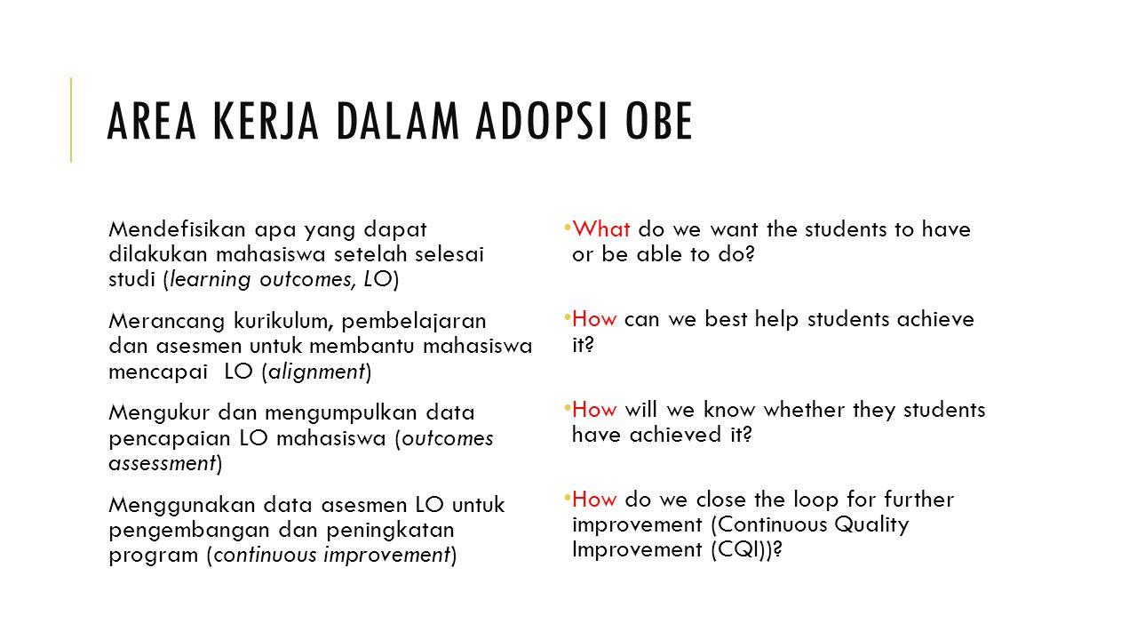 Area Kerja dalam Adopsi OBE