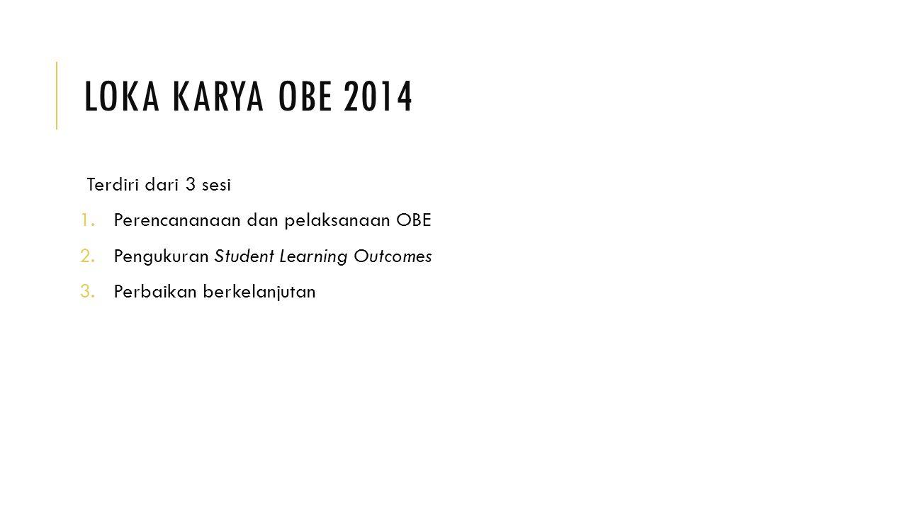 Loka Karya OBE 2014 Terdiri dari 3 sesi