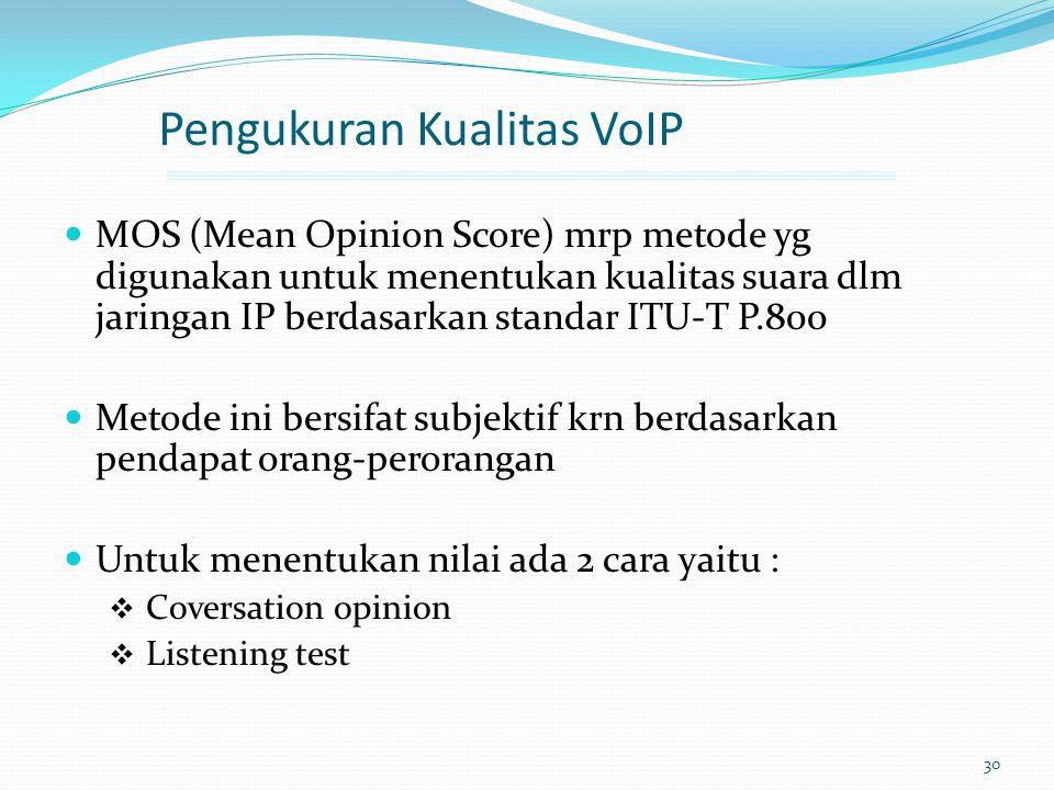 Pengukuran Kualitas VoIP
