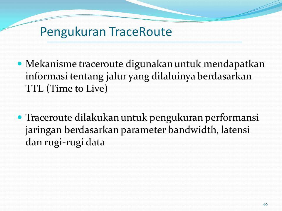 Pengukuran TraceRoute