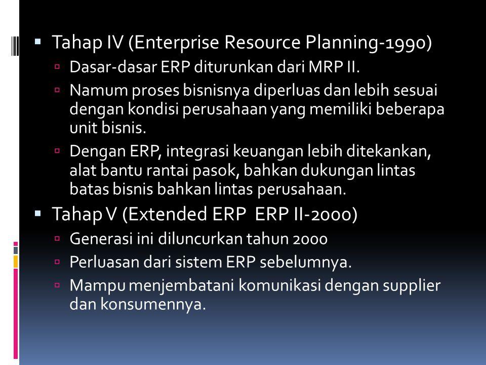 Tahap IV (Enterprise Resource Planning-1990)