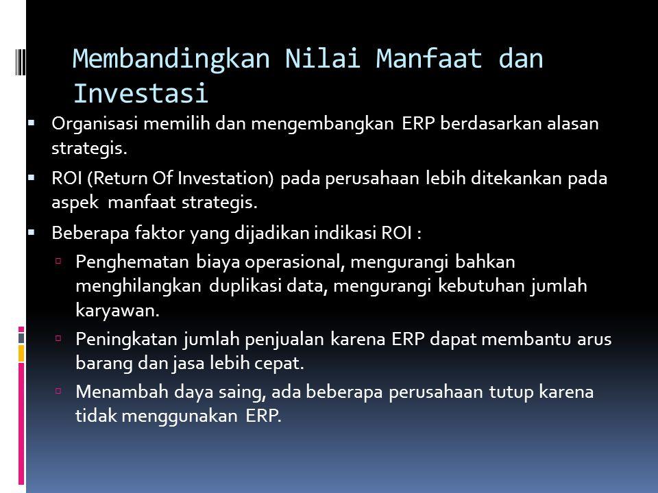 Membandingkan Nilai Manfaat dan Investasi