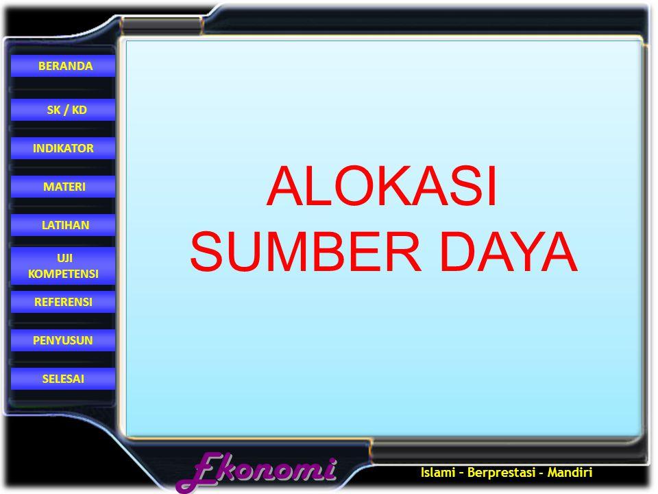 ALOKASI SUMBER DAYA
