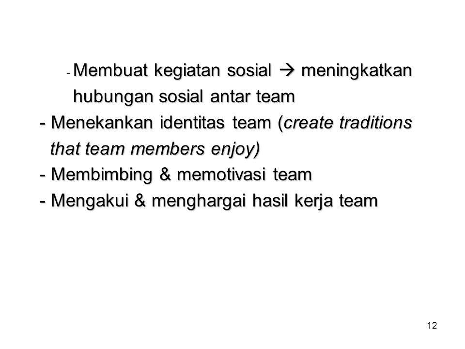 hubungan sosial antar team